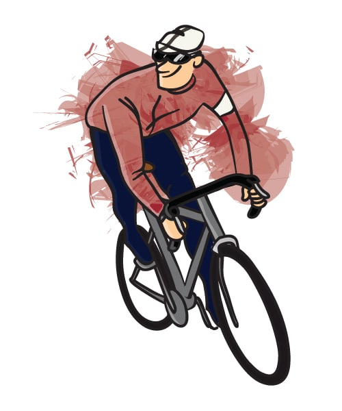 Cycling Cartoon Illustration Rapha