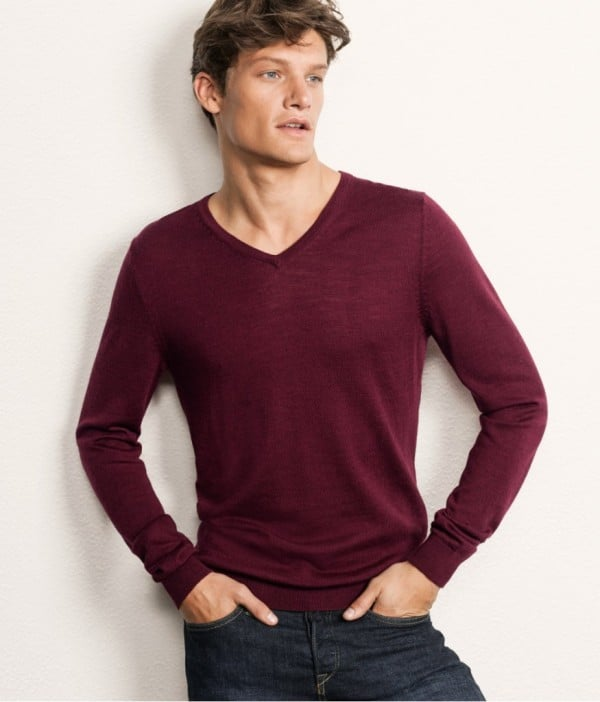 H&M Merino Red Jumper