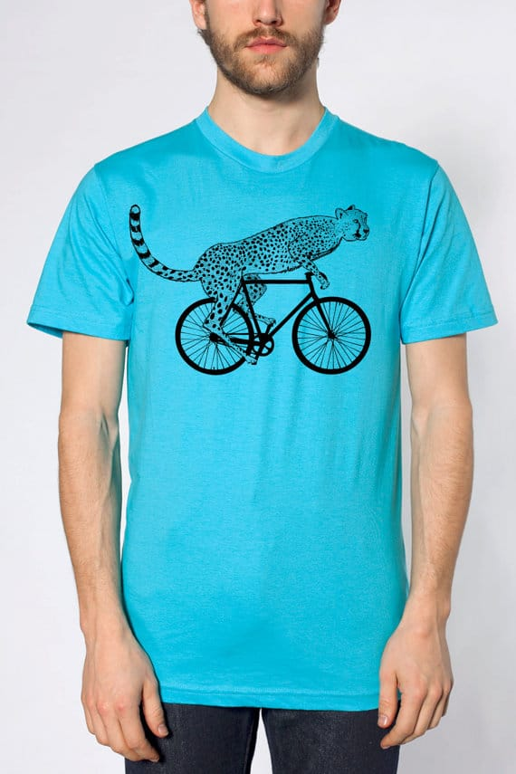 American Apparel Cheetah Bicycle T-shirt