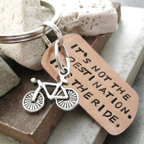 Its not the ride its the destination keyring