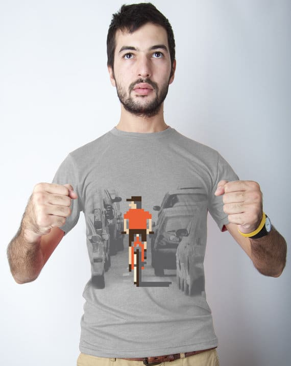 Videogame Pixel Bicycle T-shirt