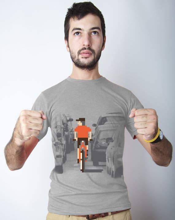 Videogame Pixel Bicycle T-shirt