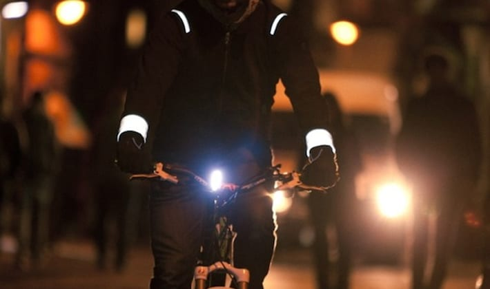 Cycling in Dark Reflective