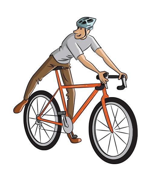 Cycling Illustration Cartoon