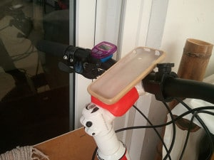 Sugru bicycle phone mount