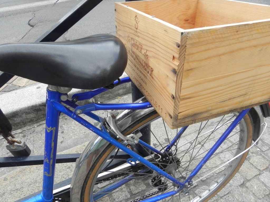 Bike wine box bordeaux
