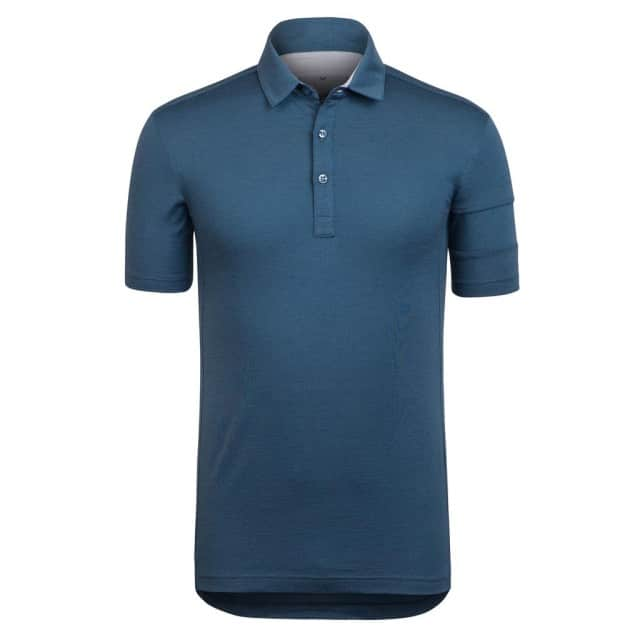 Rapha Merino Polo Blue