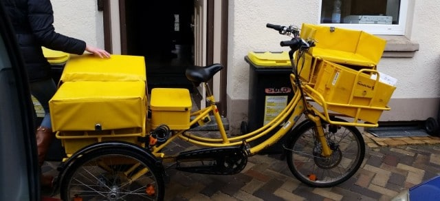 DHL Bicycle Delivery