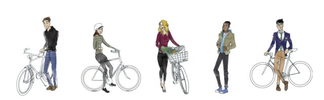 Urban Cyclists Illustrations