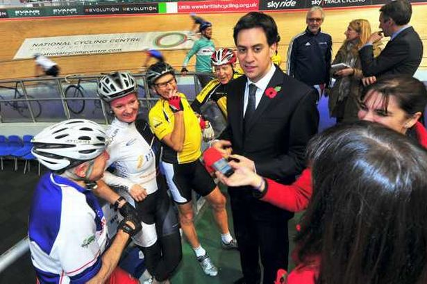 Ed-Miliband-Cycling