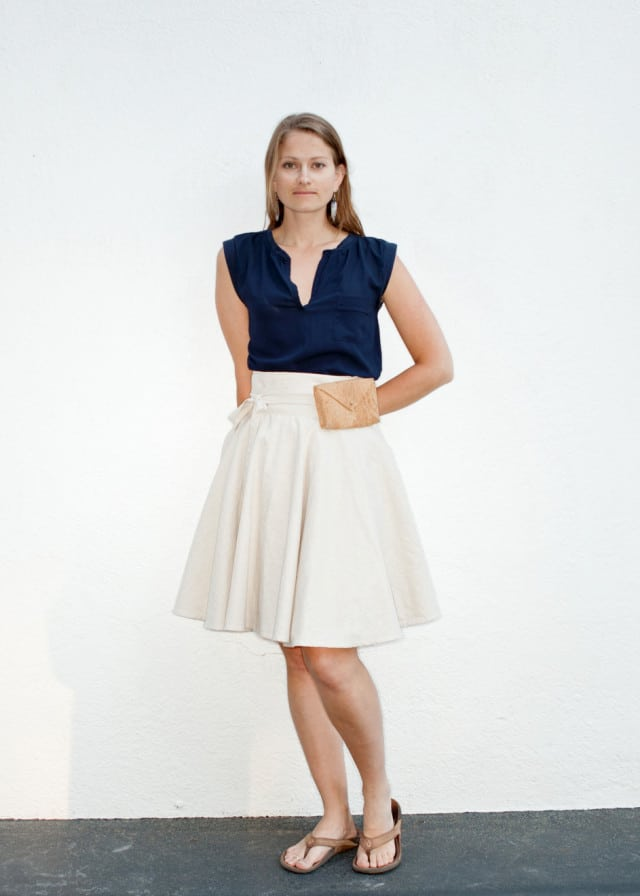 Bicycle Wrap Skirt from Forest and Fine
