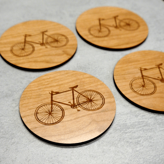Bicycle Table Coasters