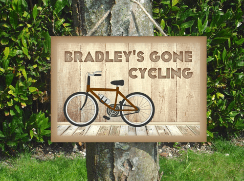 Gone Cycling Sign