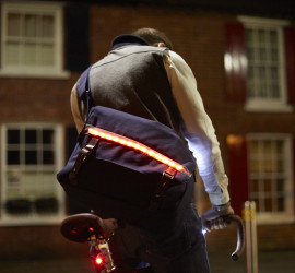 LUMO Brixton Messenger Bag Lights Cycling