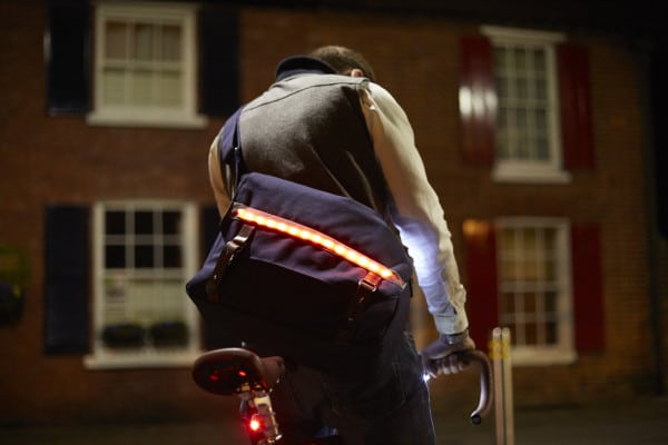 LUMO Brixton Messenger Bag Lights Cycling