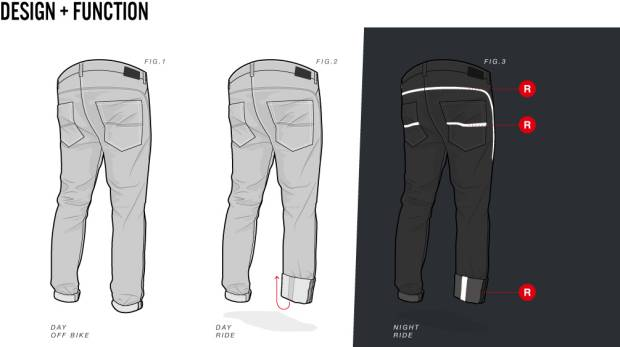 Cycling Jeans Reflective Features