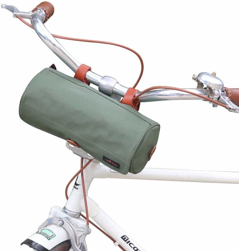 Bike Bicycle Front Basket Large Capacity Canvas Waterproof Handlebar Bag G