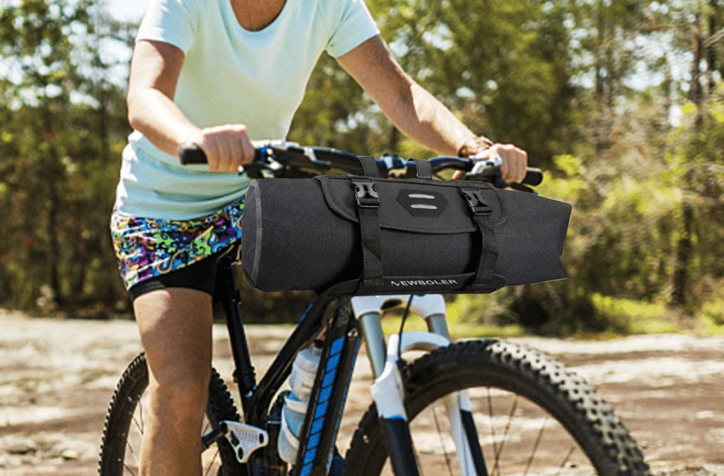XPhonew Bike Basket Bicycle Handlebar Bag Front Frame Pack Top Tube Pouch Pannier Accessories Bicycle Cycling Package with Shoulder Strap for Mountain Road MTB Bike